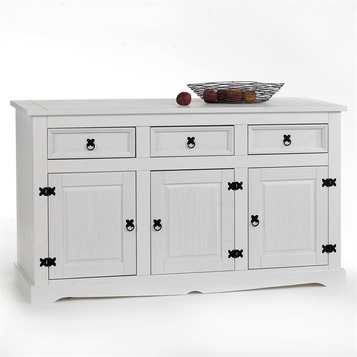Anrichte Sideboard TEQUILA mit 3 Türen + 3 Schubladen, weiß