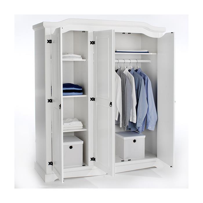 Kleiderschrank TULUM 3türig weiß