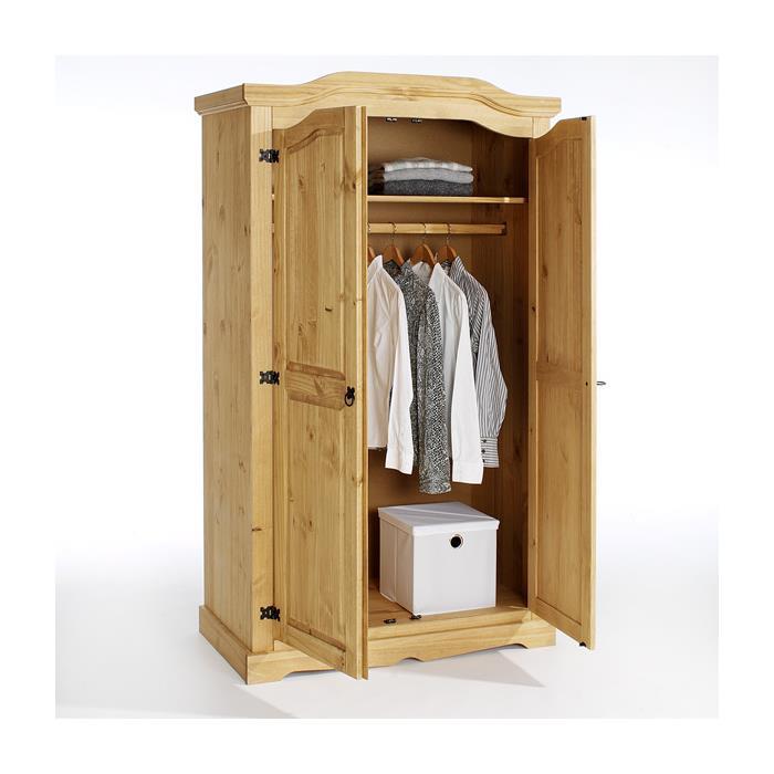 Kleiderschrank TULUM 2türig gebeizt/gewachst
