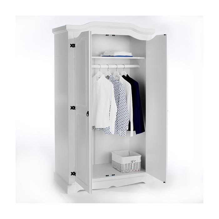 Kleiderschrank TULUM 2türig weiß