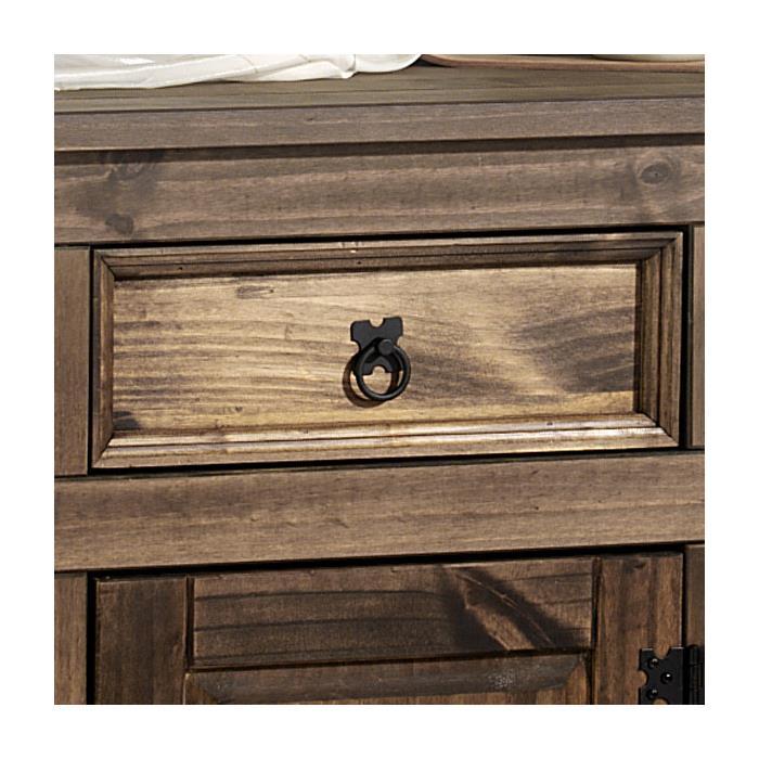 Anrichte Sideboard TEQUILA mit 3 Türen + 3 Schubladen, kolonial braun