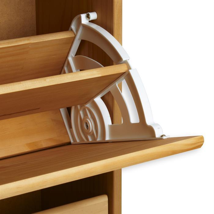 Schuhschrank COLMAR, gebeizt mit 3 Klappen