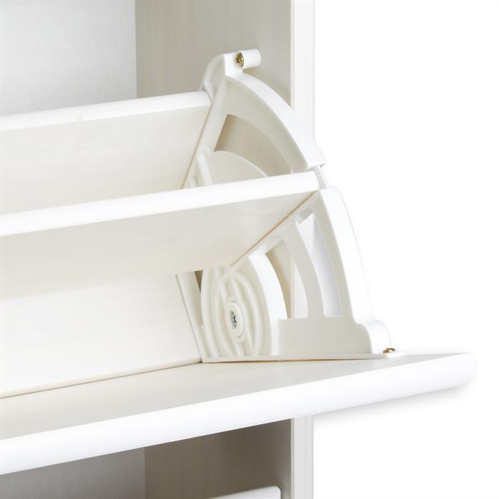 Schuhschrank COLMAR in weiß 3 Klappen