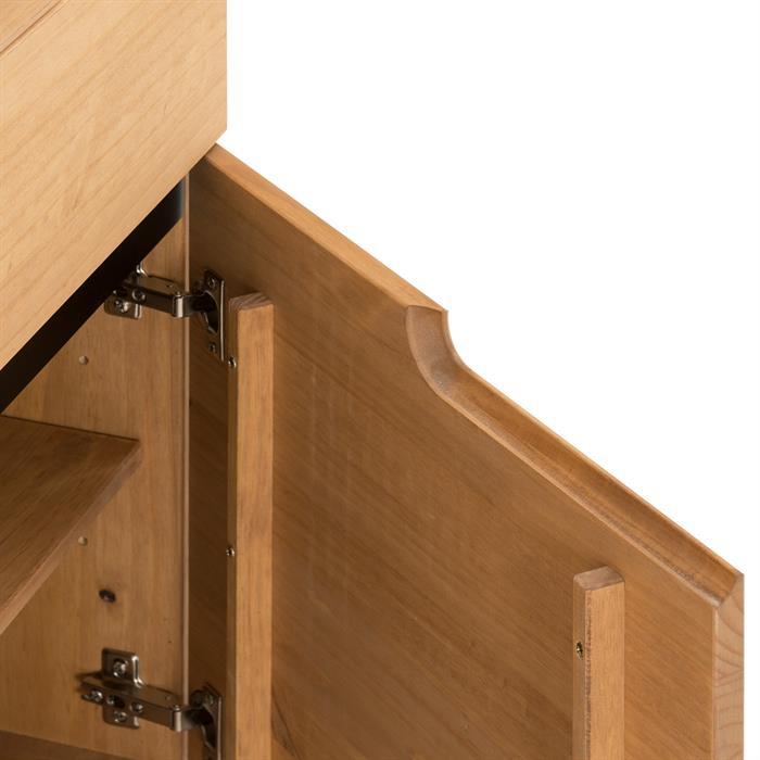 Kommode TIBOR mit 2 Türen und 2 Schubkasten, braun