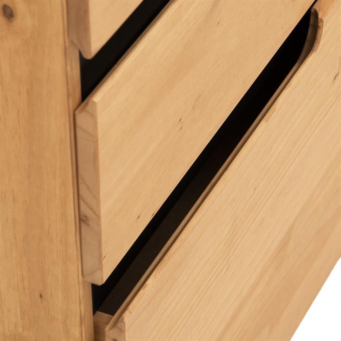 Kommode TIBOR mit 4 Schubladen, gebeizt/gewachst