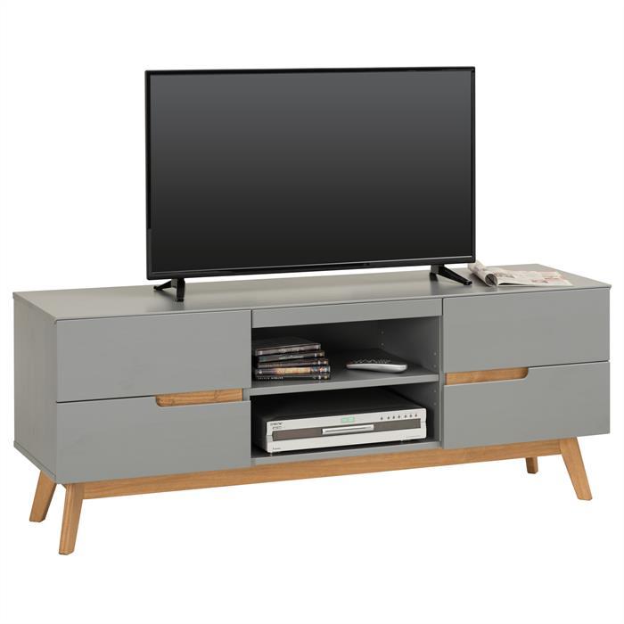 Lowboard TV Möbel TIBOR, grau