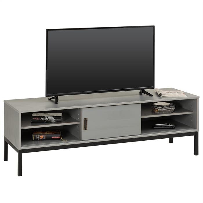 TV Lowboard SELMA mit 2 Schiebetüren, grau