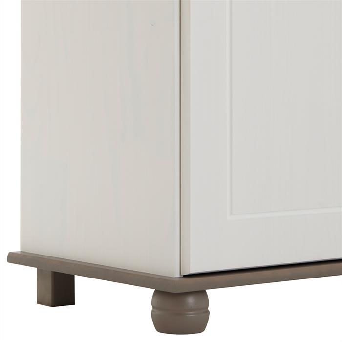 Apothekerkommode COLMAR 2-türig, weiß/taupe