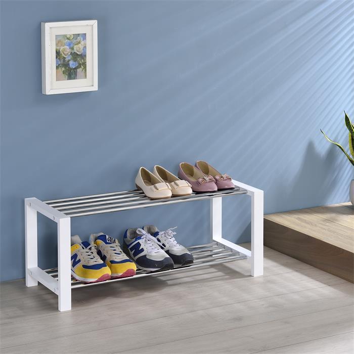 Schuhregal ARINA 2 Böden weiß