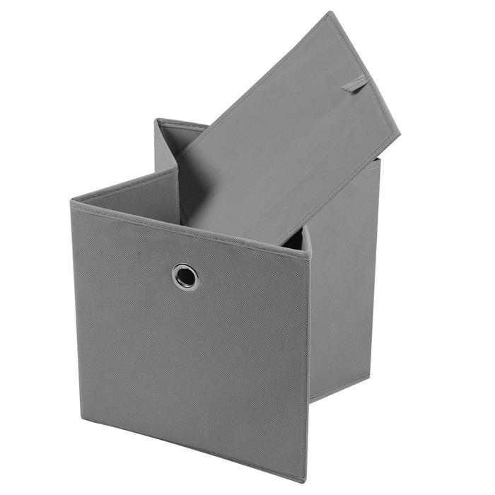 Stoffbox ELA faltbar 2er Pack grau