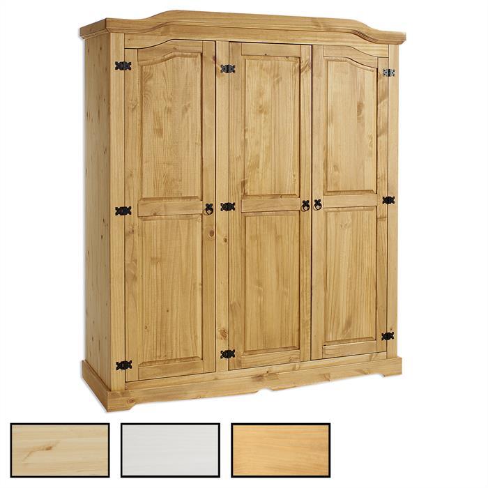 Kleiderschrank TULUM Kiefer mit 2 oder 3 Türen in 3 Farben