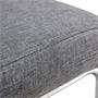 Schwingstuhl ALADINO, 4er Set, Stoffbezug in grau