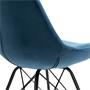 Esszimmerstuhl EVEREST 2er Set Samtstoffbezug in blau