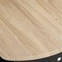 Bartisch JOSUA mit Regal in Sonoma Eiche/schwarz