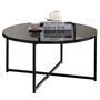 Couchtisch NOELIA rund, Tischplatte in schwarz