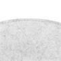 Sitzkissen JONITA im 4er Set aus Filzstoff in weiß