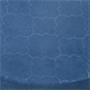 Sitzhocker ORLEANS rund mit Samt Stoff in blau