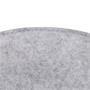 Sitzkissen JONITA im 2er Set aus Filzstoff in grau