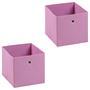 Stoffbox ELA faltbar 2er Pack rosa
