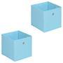 Stoffbox ELA faltbar 2er Pack hellblau