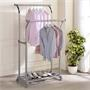 Garderobenständer MERIDA, 2 Kleiderstangen