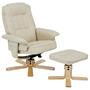 Relaxsessel mit Hocker CHARLY Polstersessel in beige
