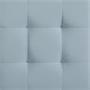 Würfelhocker BAZAR aus Samt Stoff in hellblau