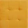 Würfelhocker BAZAR aus Samt Stoff in gelb