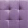 Würfelhocker BAZAR aus Samt Stoff in lila