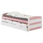 Kojenbett JESSY 90 x 200 cm, weiß/rosa