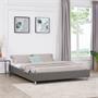 Futonbett NIZZA 160 x 200 cm Kunstlederbezug in grau