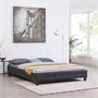 Futonbett GOMERA 160 x 200 cm Bezug Kunstleder in schwarz