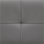Futonbett GOMERA 180 x 200 cm Kunstlederimitat in grau