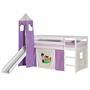 Rutschbett BENNY weiß mit Vorhang + Turm PONY