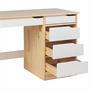 Schreibtisch HUGO in Kiefer massiv natur/weiß