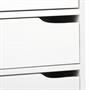 Schreibtisch HUGO in Kiefer massiv weiß
