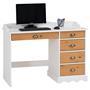 Schreibtisch COLETTE mit Aufsatz weiß/braun