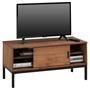 TV Lowboard SELMA mit 1 Schiebetür, braun gebeizt