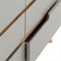 Kommode TIBOR mit 6 Schubladen, grau