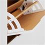 Schuhschrank BASIL in taupe mit 2x2 Kipper weiß/braun
