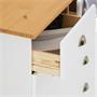 Kommode PARIS mit 6 Schubladen, weiß/braun