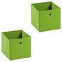 Stoffbox BELLA im 2er Pack, faltbar in grün