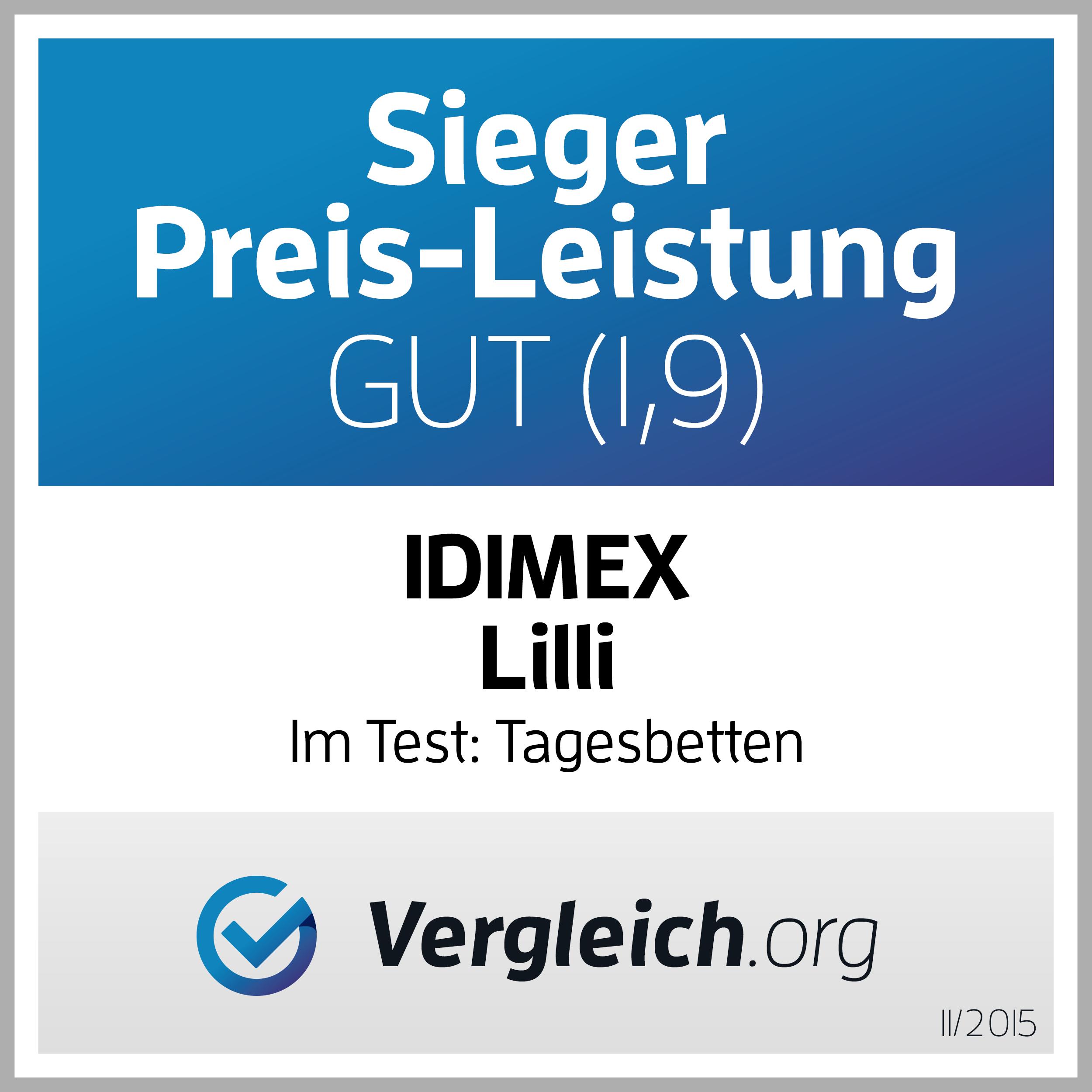 Preis-Leistungs-Sieger IDIMEX LILLI